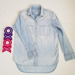 MADEWELL long sleeve button down denim shirt (S)